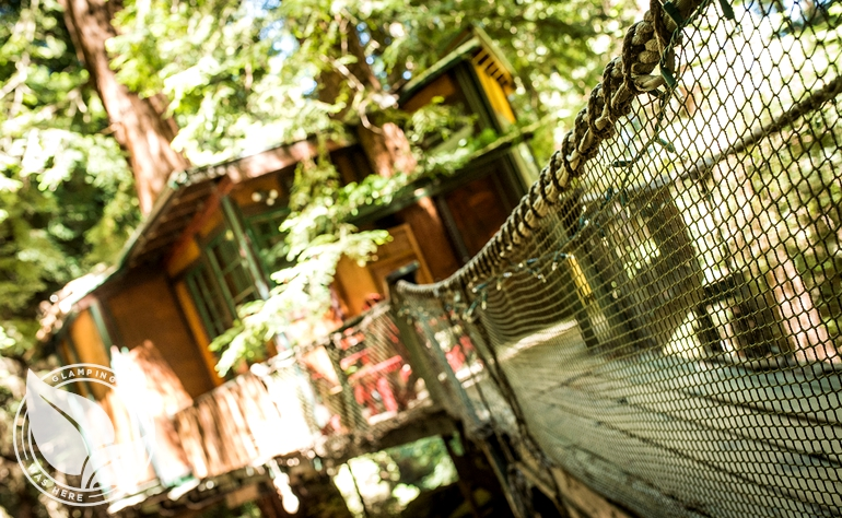 Glamping Treehouse in Santa Cruz Mountains near Monterey Bay, CA
