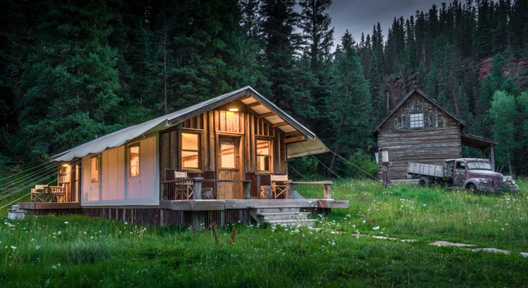 Canvas Tents in Luxury Colorado Rockies resort | sophisticated