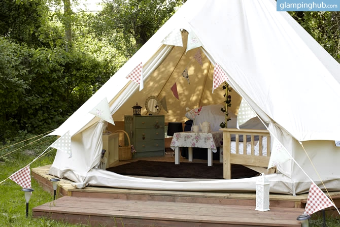 Glamping in the UK - Magazine cover